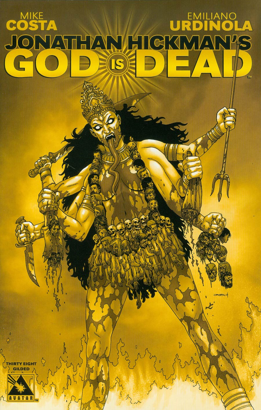 God Is Dead #38 Cover F Incentive Gilded Cover