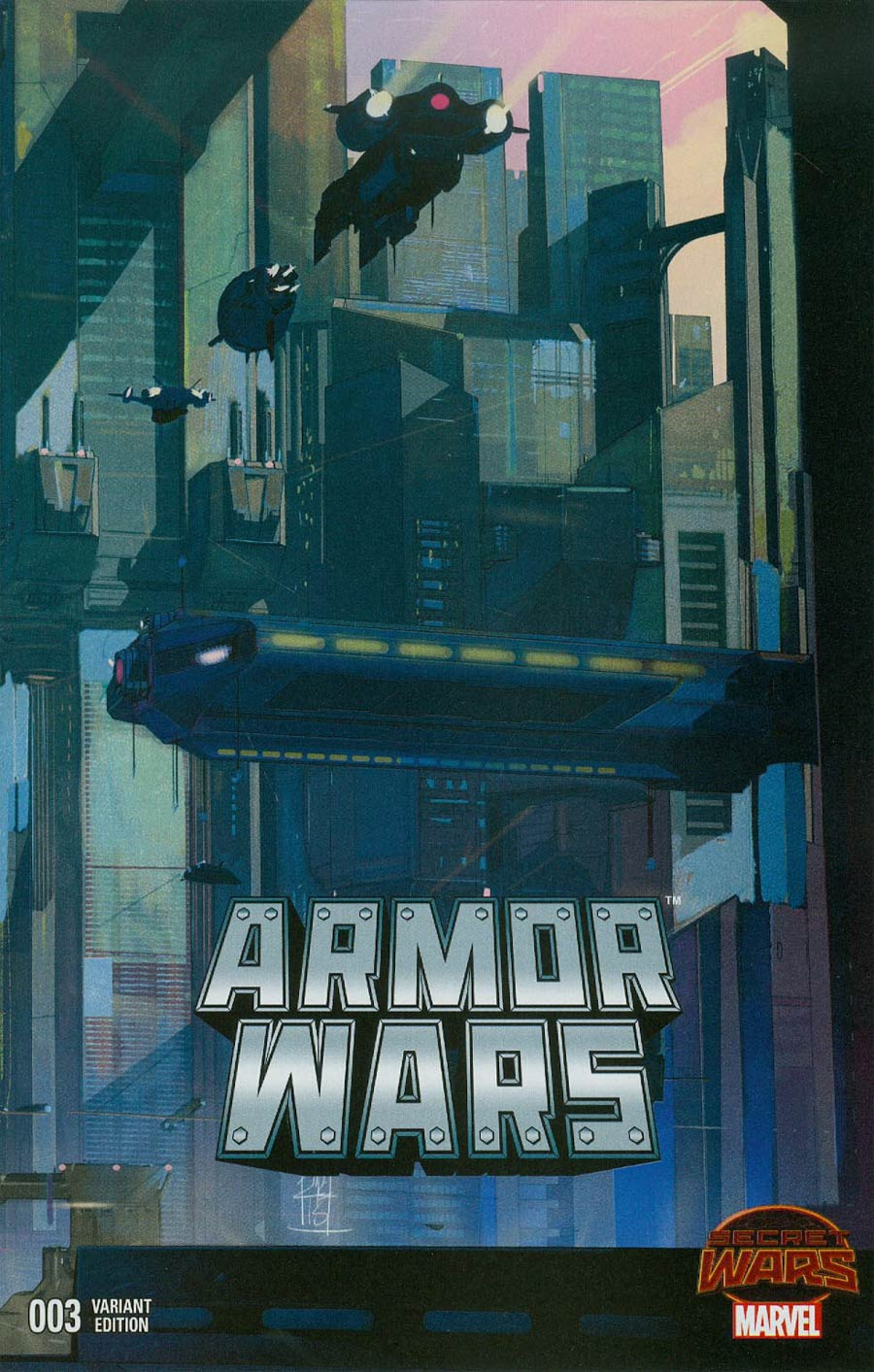 Armor Wars #3 Cover B Incentive Landscape Wraparound Variant Cover (Secret Wars Warzones Tie-In)