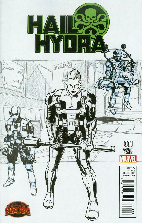 Hail Hydra #1 Cover F Incentive Roland Boschi Design Variant Cover (Secret Wars Warzones Tie-In)