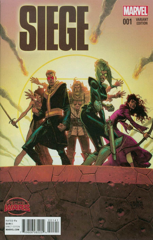 Siege (Marvel) Vol 2 #1 Cover D Incentive Andrew Robinson Variant Cover (Secret Wars Battleworld Tie-In)