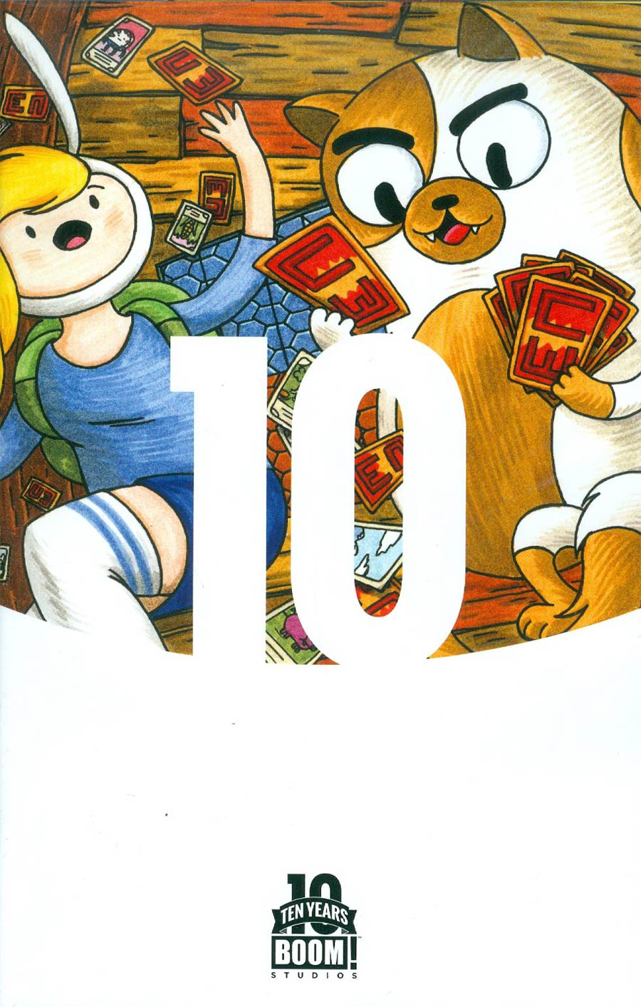 Adventure Time With Fionna & Cake Card Wars #1 Cover C Incentive Jeffrey Brown BOOM 10 Years Anniversary Virgin Variant Cover