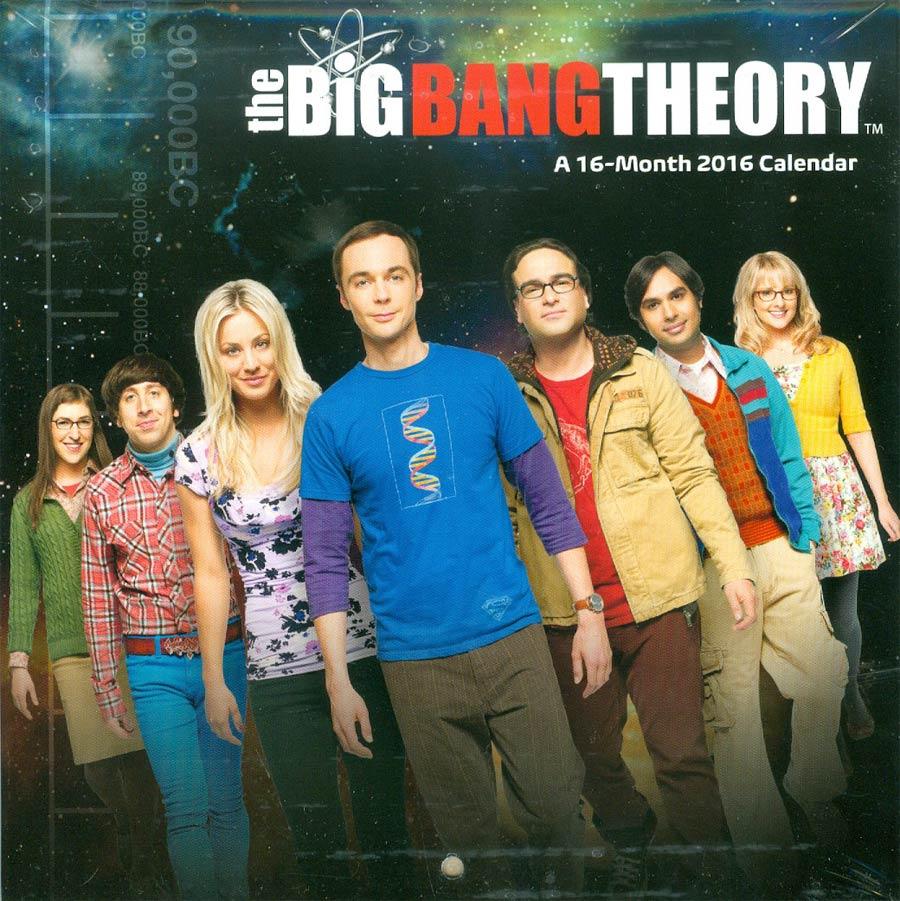 Big Bang Theory 2016 7x7-inch Mini Wall Calendar