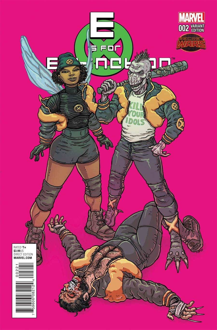E Is For Extinction #2 Cover B Incentive Ramon Villalobos Variant Cover (Secret Wars Warzones Tie-In)