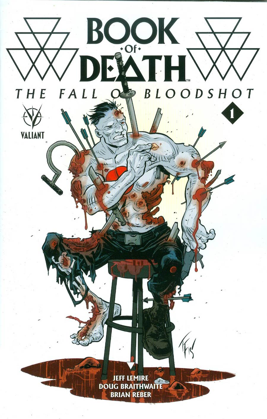 Book Of Death Fall Of Bloodshot #1 Cover D Incentive Tom Fowler Variant Cover