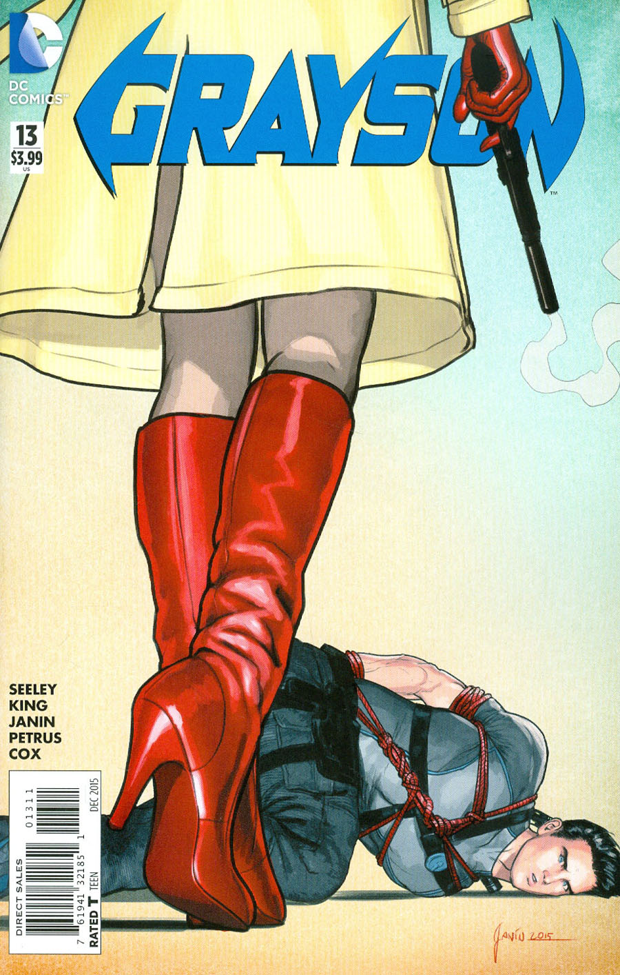 Grayson #13 Cover A Regular Mikel Janin Cover