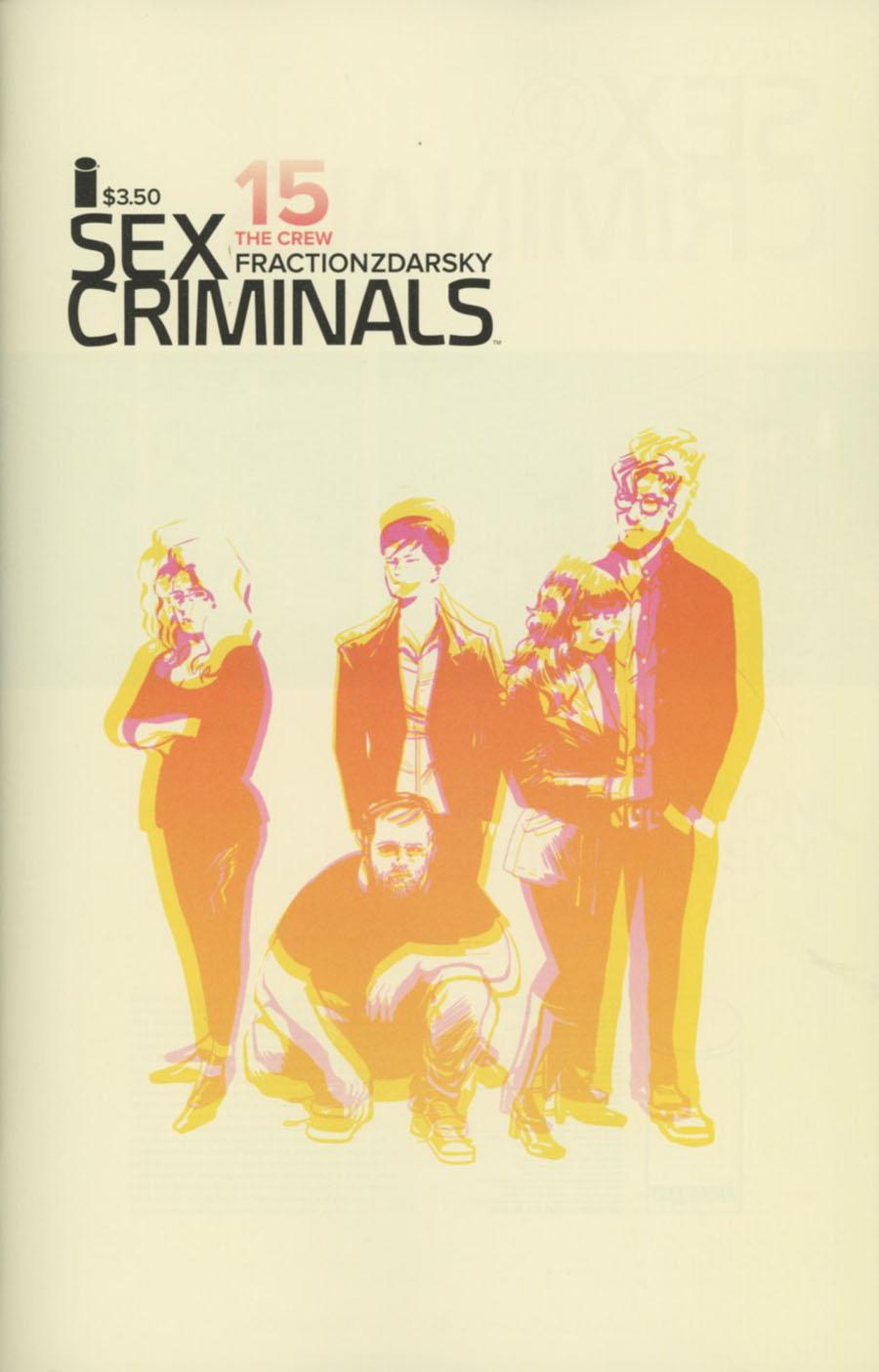 Sex Criminals #15 Cover A Regular Chip Zdarsky Cover