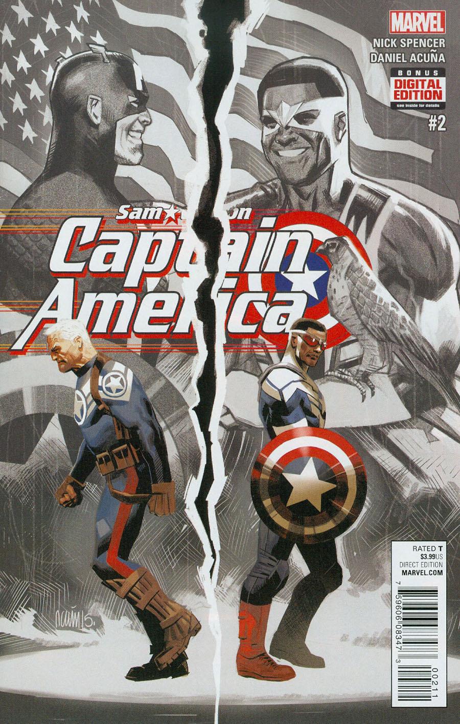 Captain America Sam Wilson #2 Cover A Regular Daniel Acuna Cover