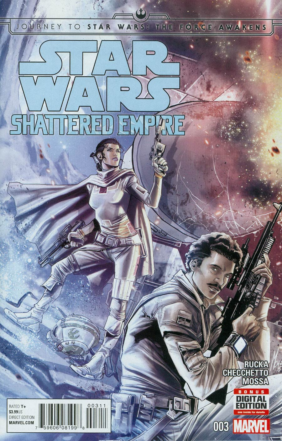 Journey To Star Wars Force Awakens Shattered Empire #3 Cover A Regular Marco Checchetto Cover