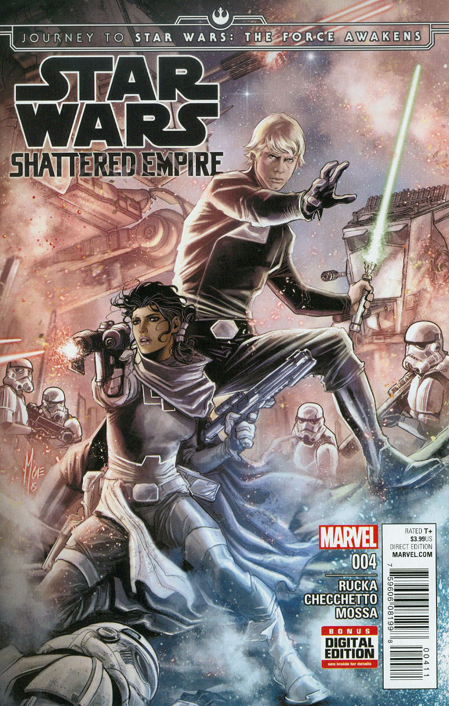 Journey To Star Wars Force Awakens Shattered Empire #4 Cover A Regular Marco Checchetto Cover