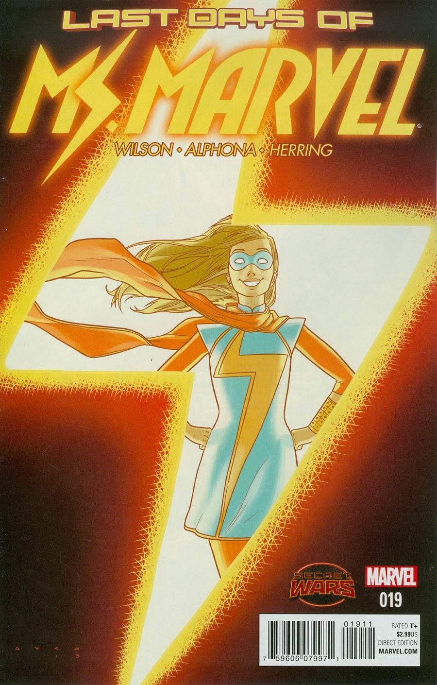 Ms Marvel Vol 3 #19 Cover A Regular Kris Anka Cover (Secret Wars Last Days Tie-In)