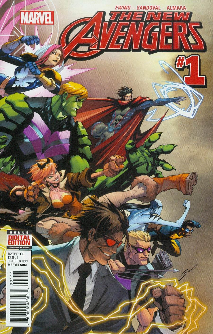 New Avengers Vol 4 #1 Cover A Regular Gerardo Sandoval Cover