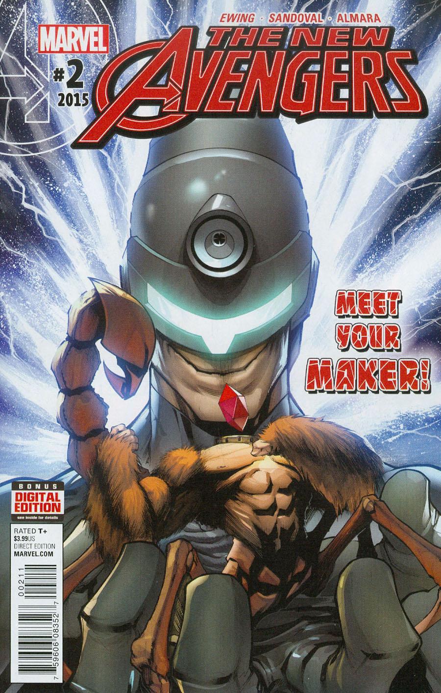 New Avengers Vol 4 #2 Cover A Regular Gerardo Sandoval Cover