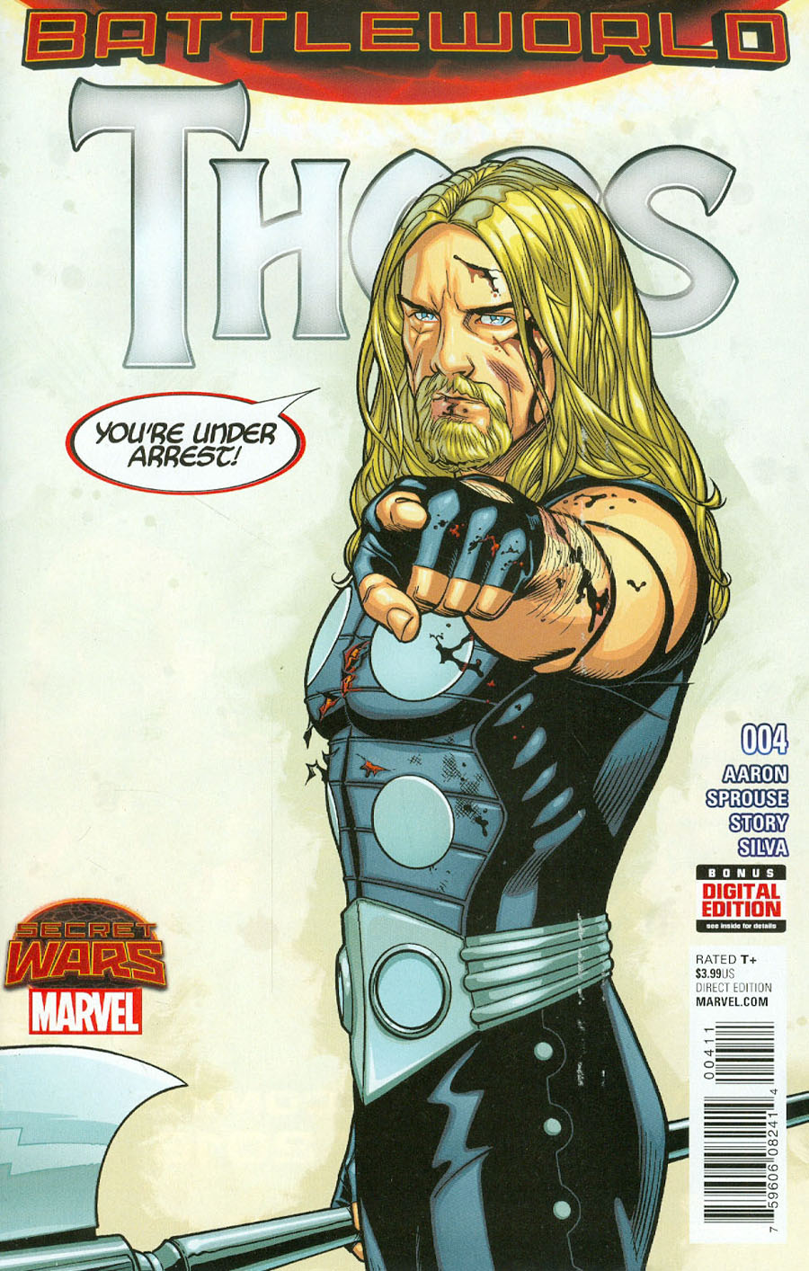 Thors #4 Cover A Regular Chris Sprouse Cover (Secret Wars Battleword Tie-In)