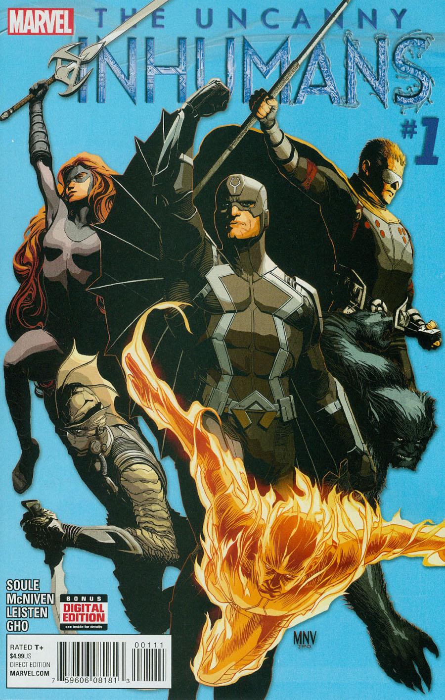 Uncanny Inhumans #1 Cover A Regular Steve McNiven Cover
