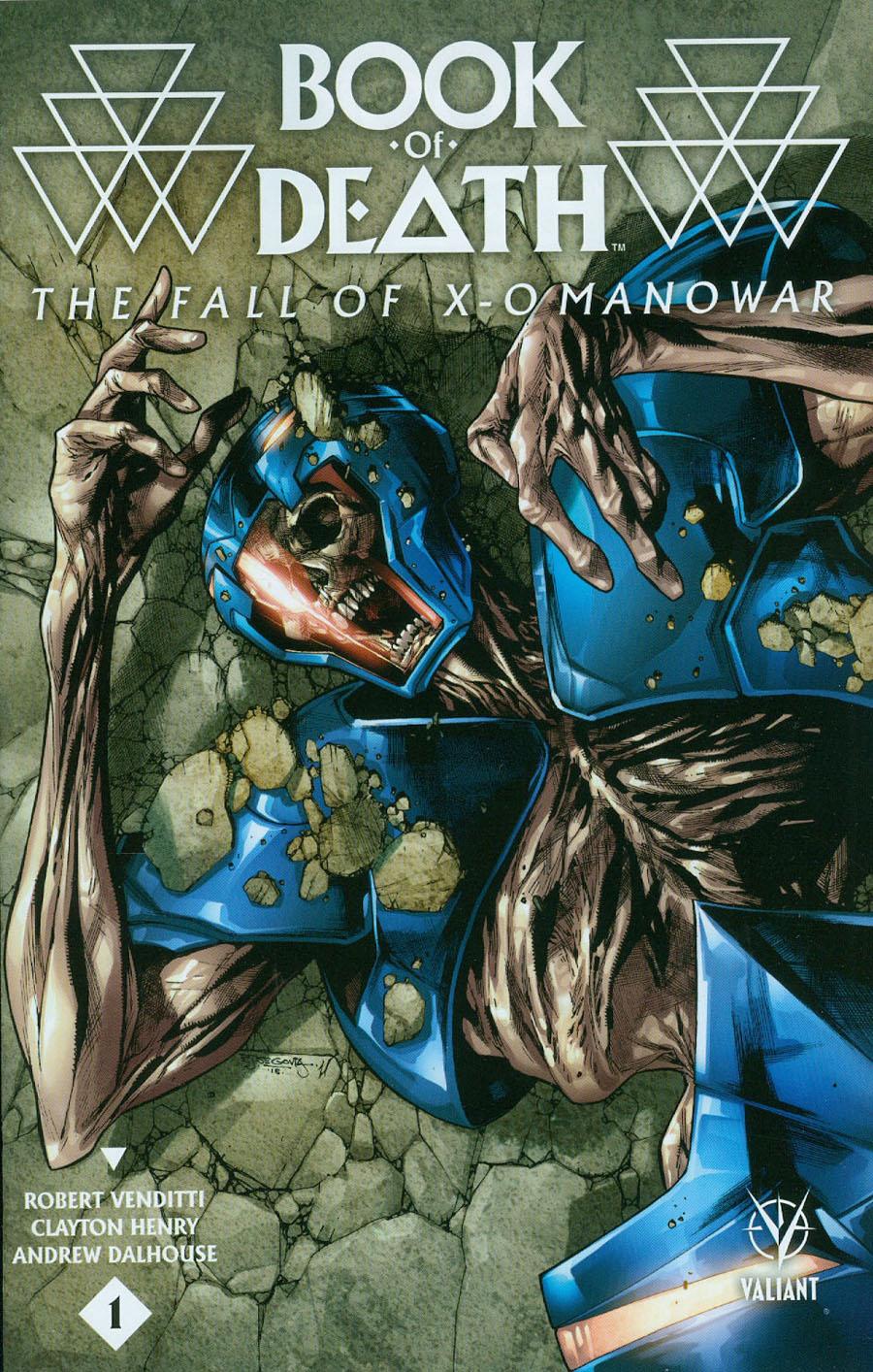 Book Of Death Fall Of X-O Manowar #1 Cover B Variant Stephen Segovia Cover