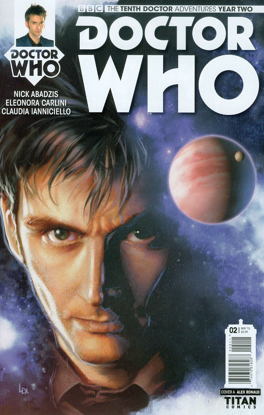 Doctor Who 10th Doctor Year Two #2 Cover A Regular Alex Ronald Cover