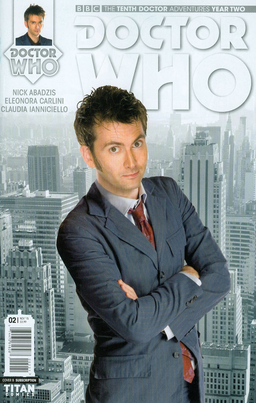 Doctor Who 10th Doctor Year Two #2 Cover B Variant Photo Subscription Cover