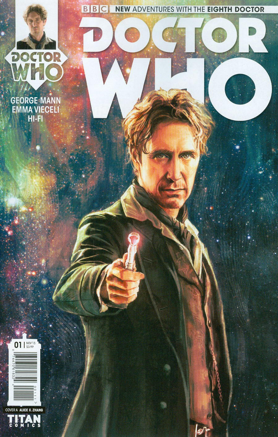 Doctor Who 8th Doctor #1 Cover A Regular Alice X Zhang Cover