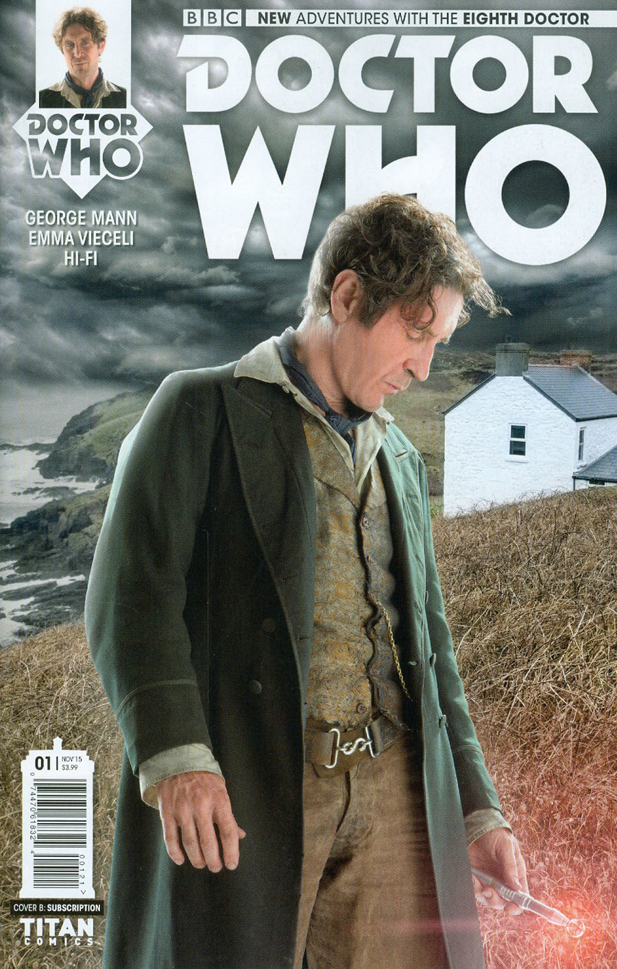 Doctor Who 8th Doctor #1 Cover B Variant Photo Subscription Cover