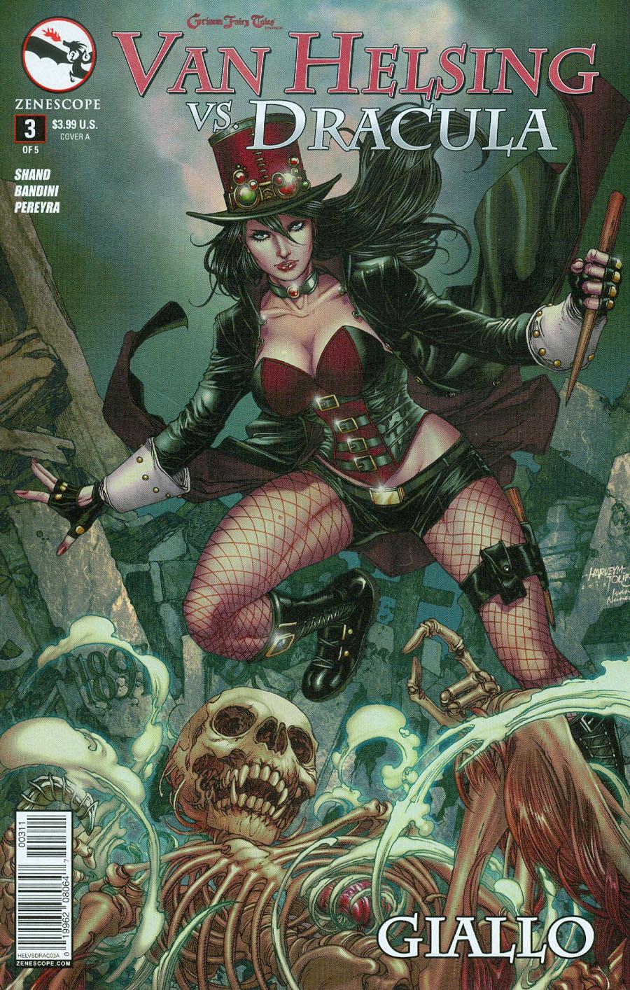 Van Helsing Vs Dracula #2 Grimm Fairy Tales Presents ~ Zenescope 2C cover