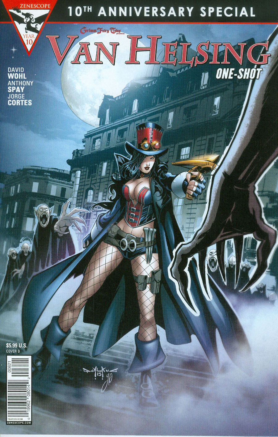 Grimm Fairy Tales Presents 10th Anniversary Special #6 Van Helsing Cover B Pasquale Qualano