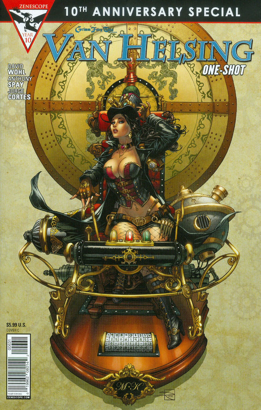 Grimm Fairy Tales Presents 10th Anniversary Special #6 Van Helsing Cover C Mike Krome