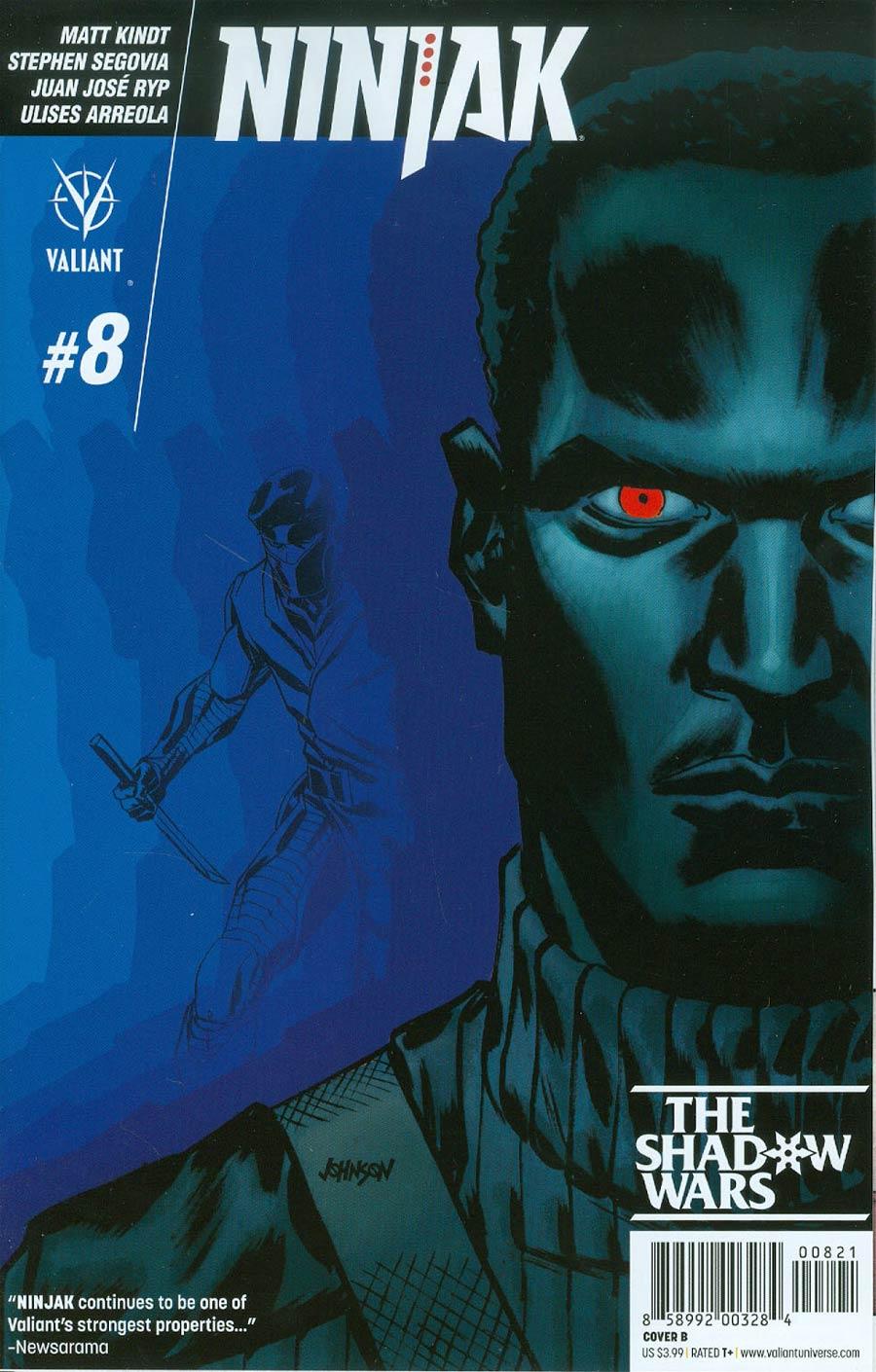 Ninjak Vol 3 #8 Cover B Variant Dave Johnson Cover