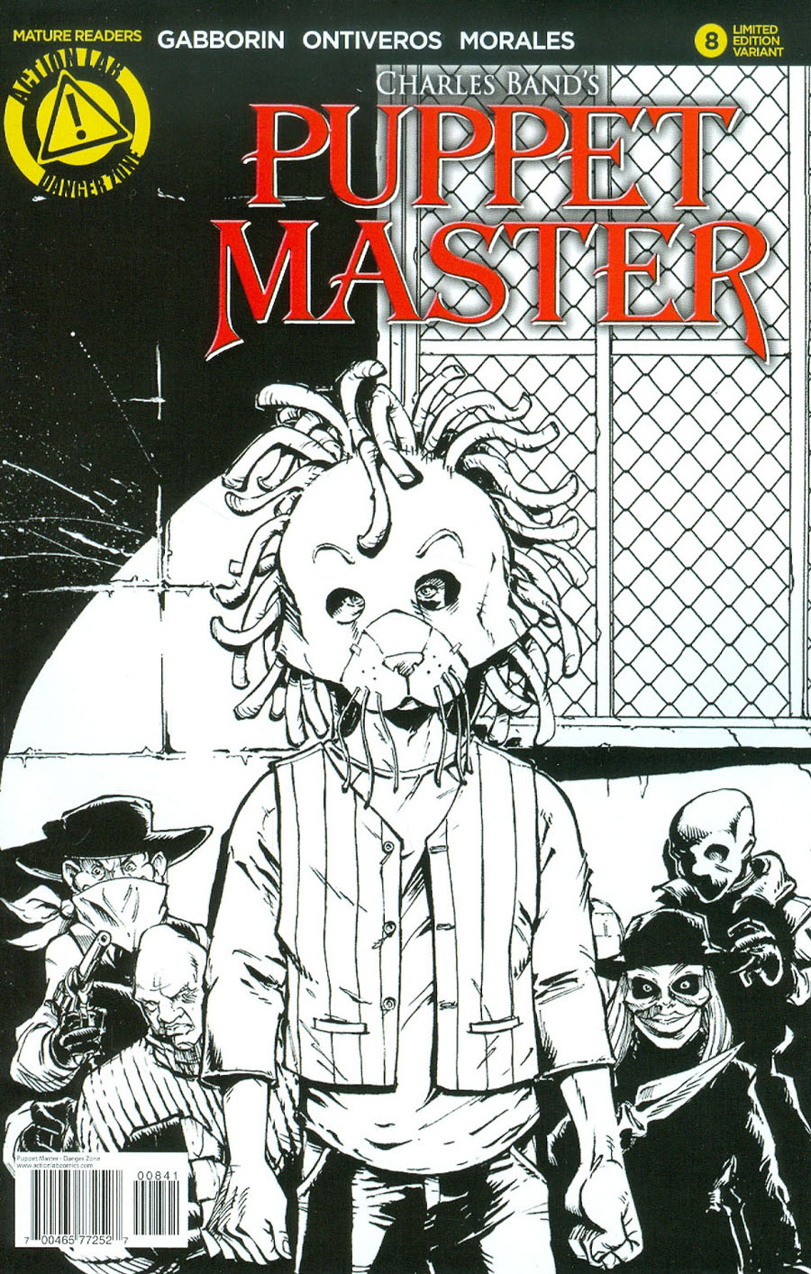 Puppet Master #8 Cover B Variant Antonio Ontiveros Sketch Cover
