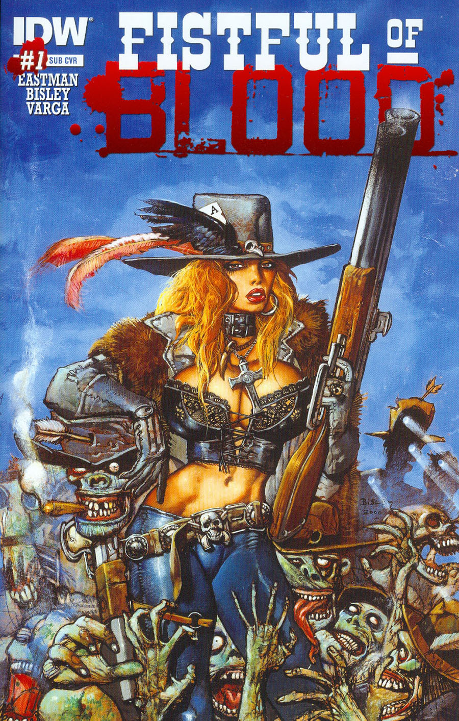 Fistful Of Blood #1 Cover B Variant Kevin Eastman Subscription Cover
