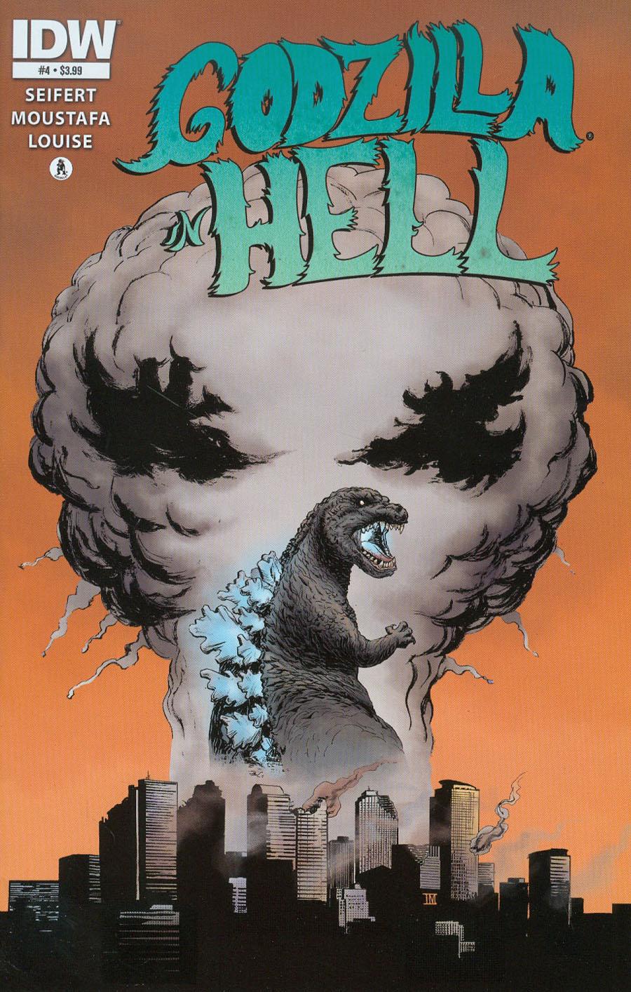 Godzilla In Hell #4 Cover A Regular Ibrahim Moustafa Cover
