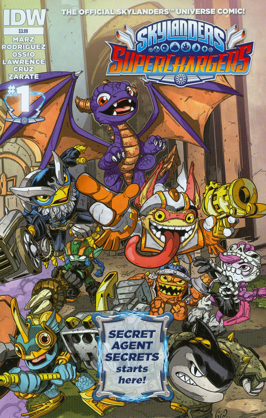 Skylanders Superchargers #1 Cover A Regular Fico Ossio Cover