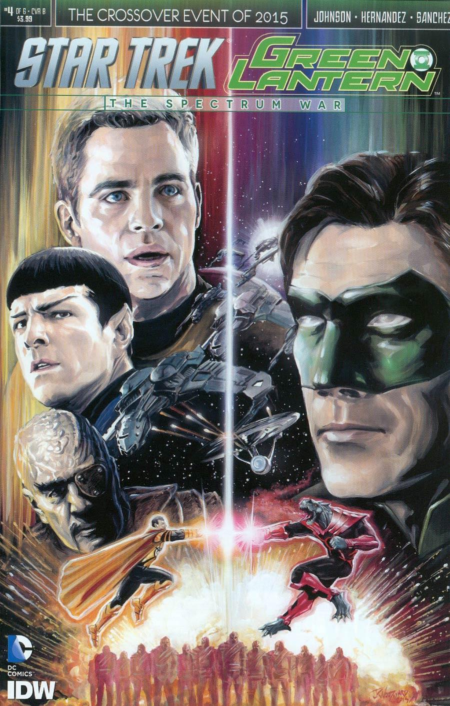 Star Trek Green Lantern #4 Cover B Variant JK Woodward Cover