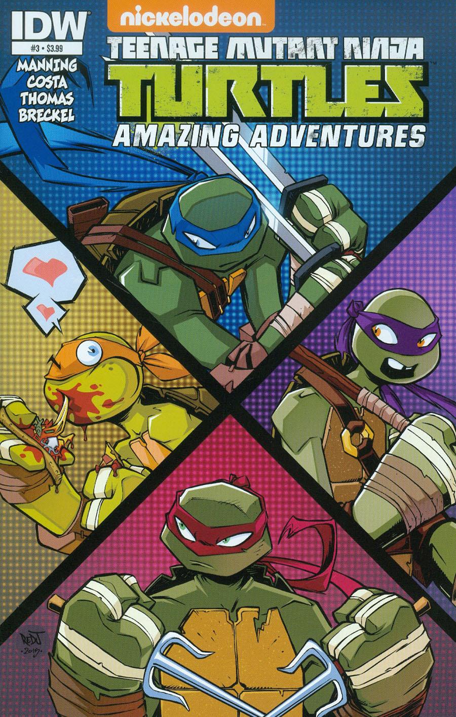 Teenage Mutant Ninja Turtles Amazing Adventures #3 Cover A Regular Jon Sommariva Cover