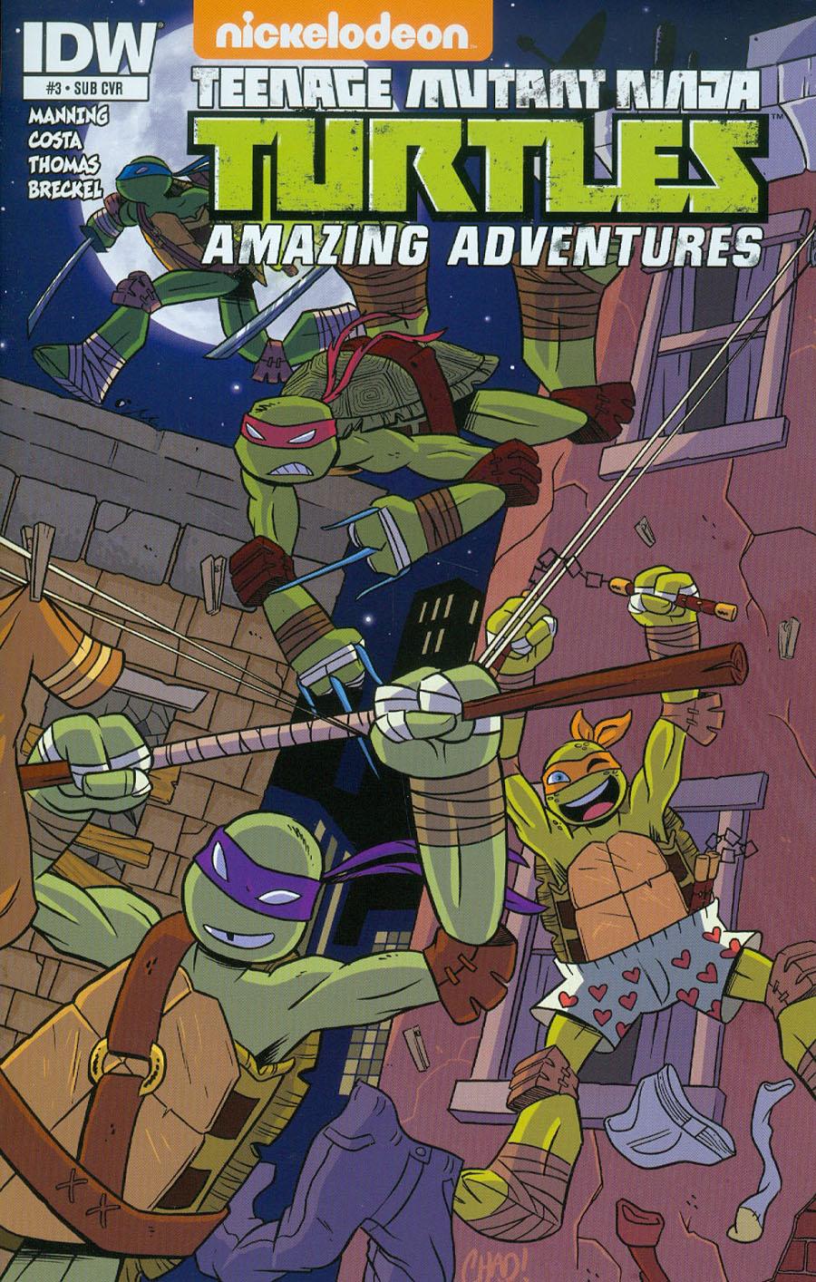 Teenage Mutant Ninja Turtles Amazing Adventures #3 Cover B Variant Chad Thomas Subscription Cover