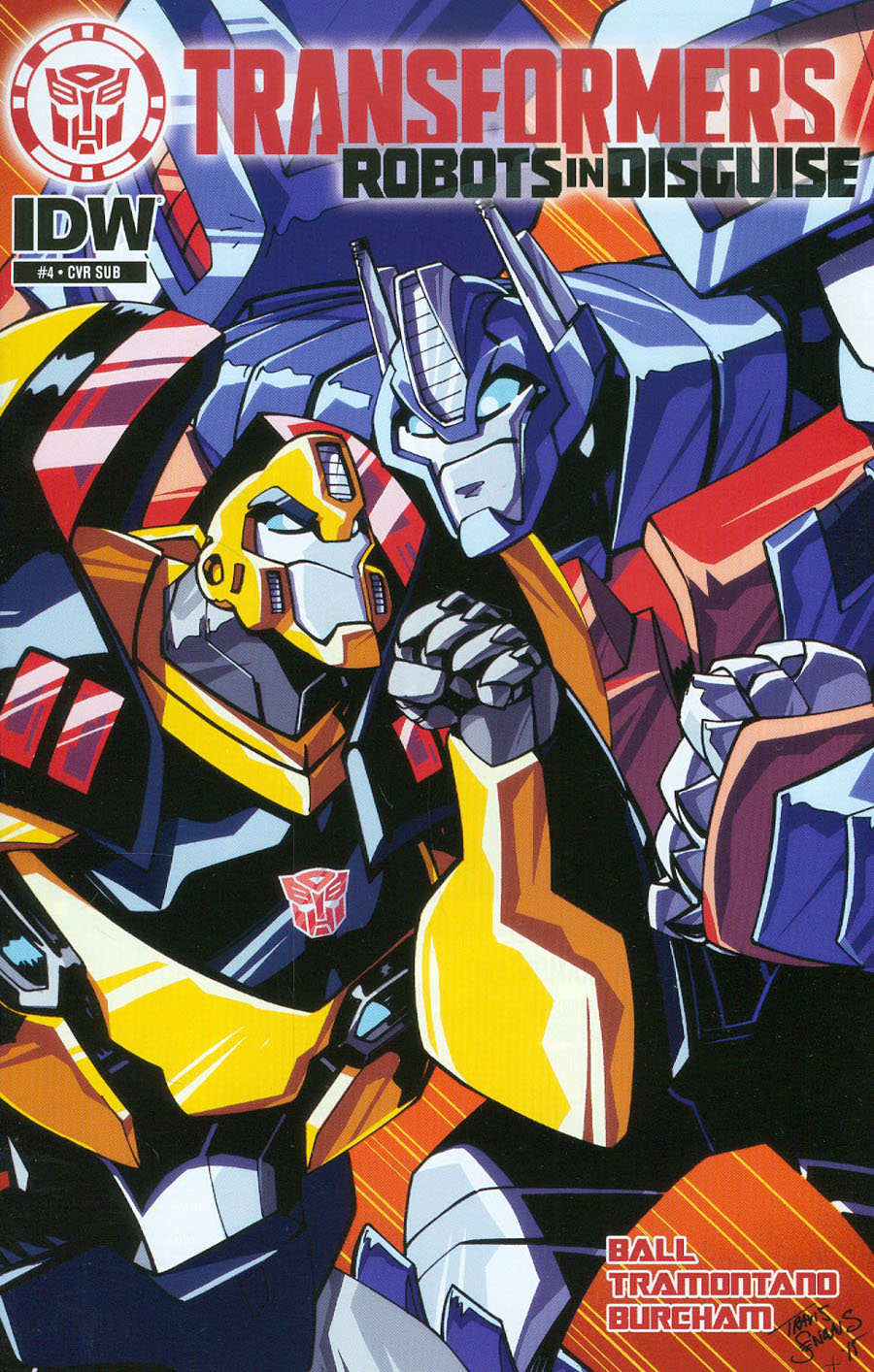 Transformers Robots In Disguise Animated #4 Cover B Variant Travis Sengaus Subscription Cover