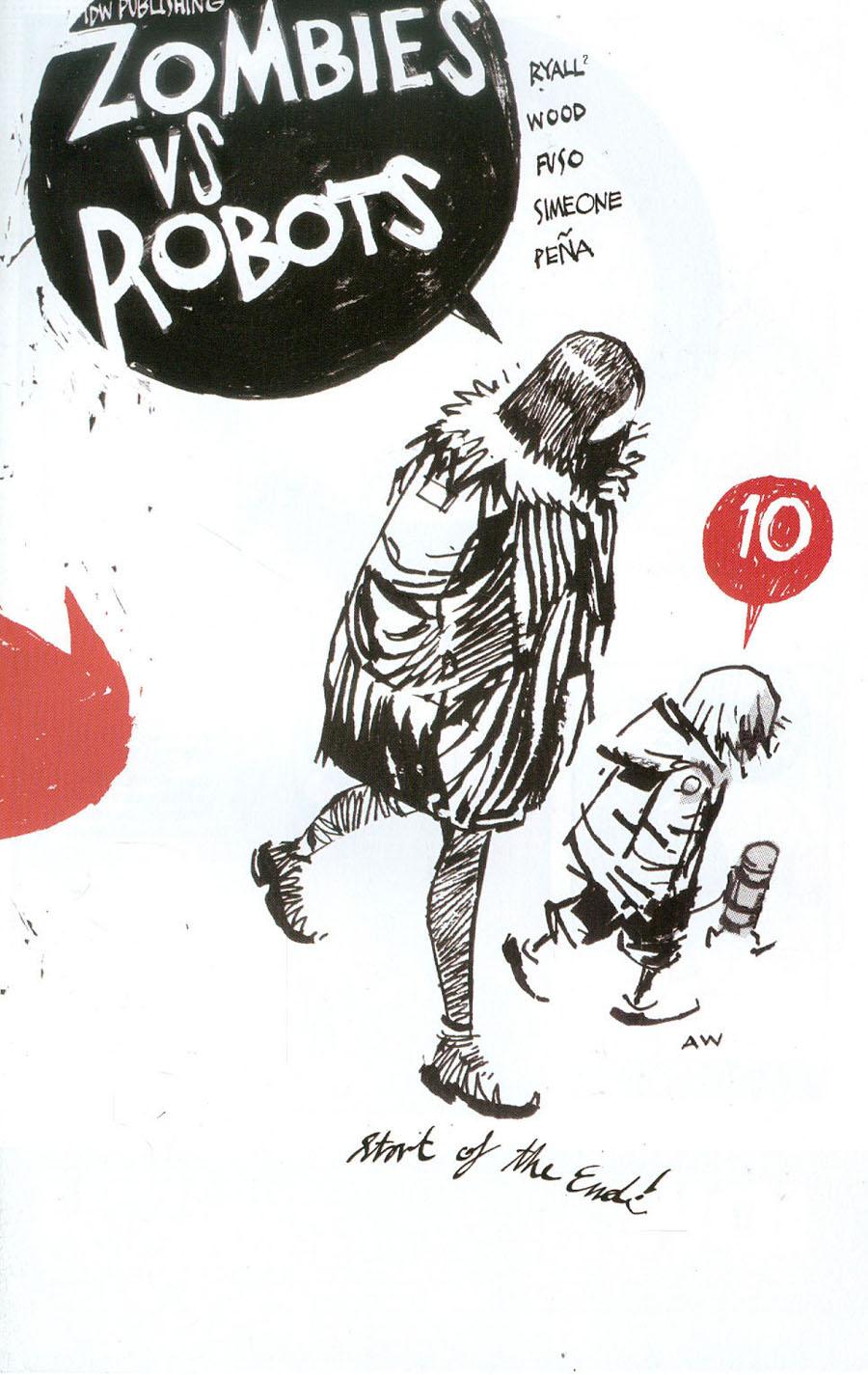 Zombies vs Robots Vol 2 #10 Cover A Regular Ashley Wood Cover