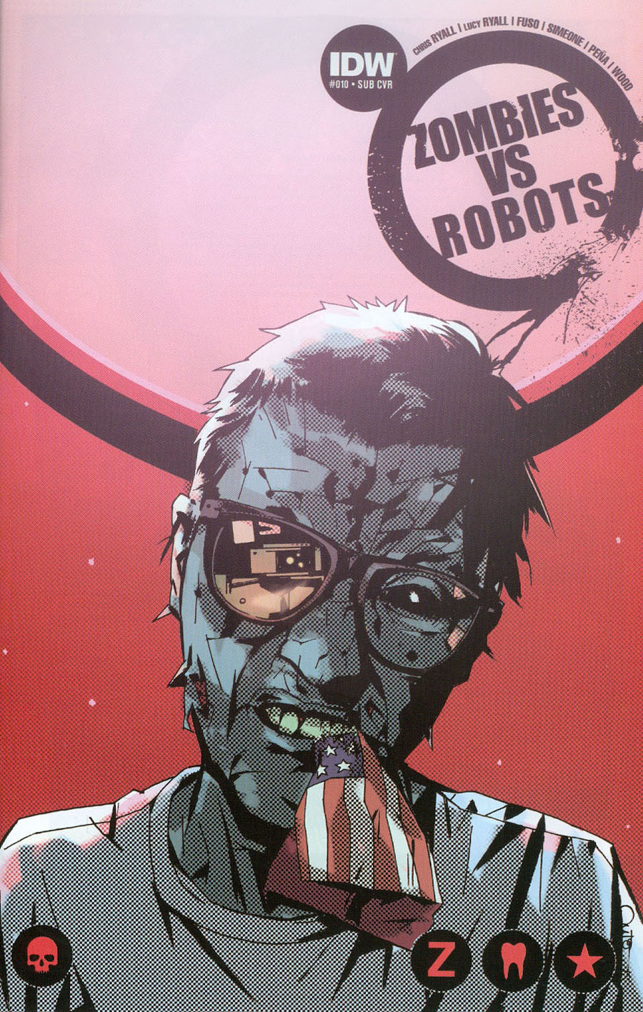 Zombies vs Robots Vol 2 #10 Cover B Variant Antonio Fuso Subscription Cover