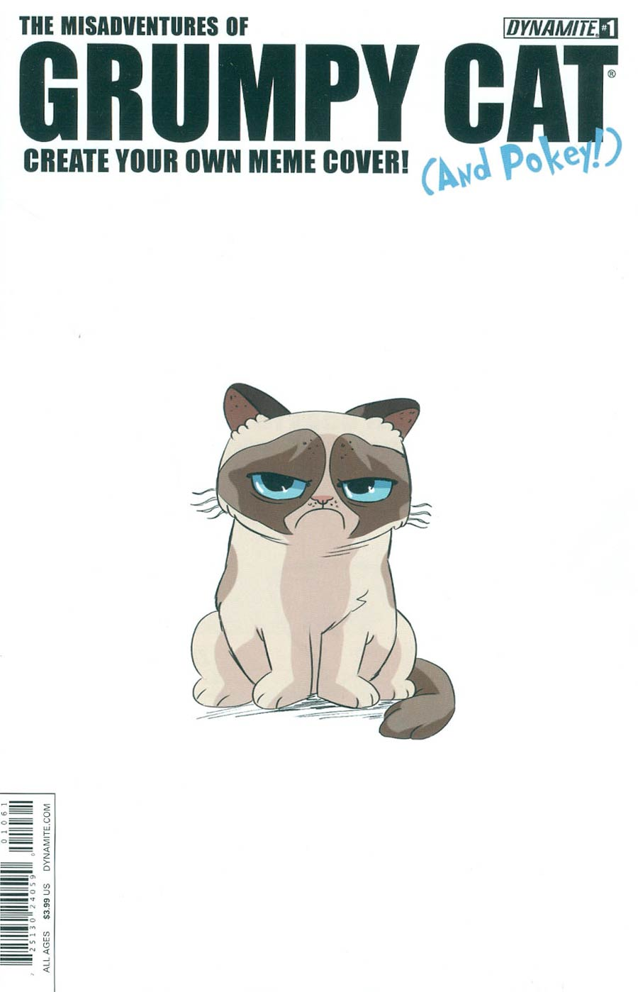 Grumpy Cat #1 Cover G Variant Create Your Own Meme Cover