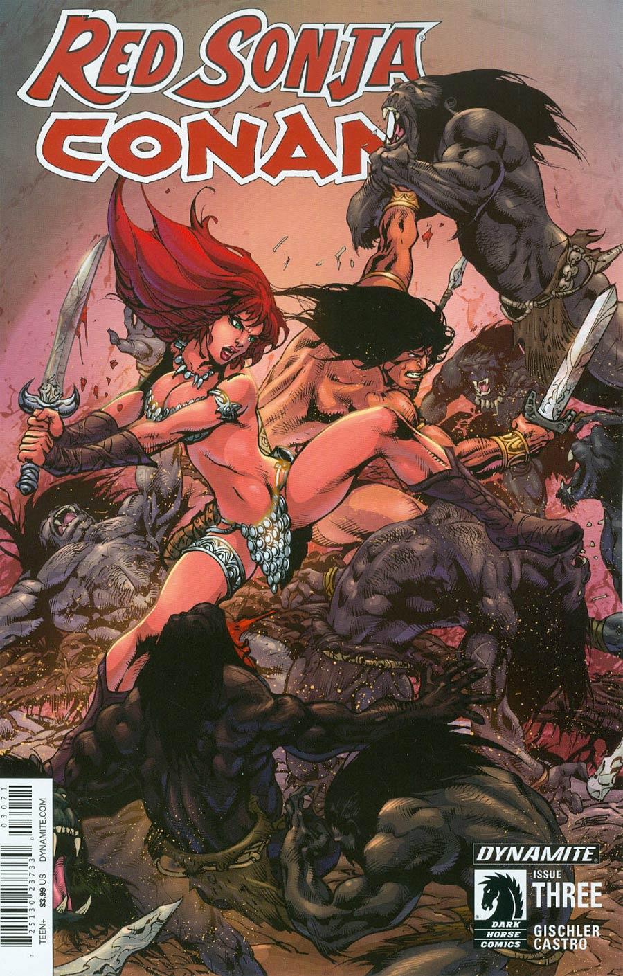 Red Sonja Conan #3 Cover B Variant Roberto Castro Subscription Cover