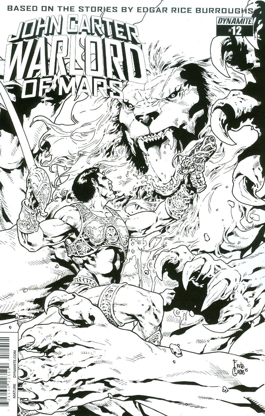 John Carter Warlord Of Mars Vol 2 #12 Cover E Incentive Bart Sears Black & White Cover