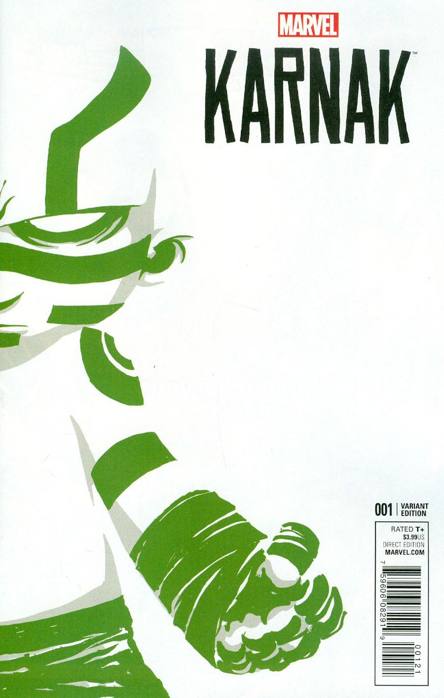 Karnak #1 Cover B Variant Skottie Young Baby Cover