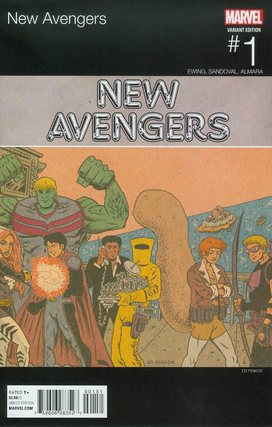 New Avengers Vol 4 #1 Cover B Variant Marvel Hip-Hop Cover