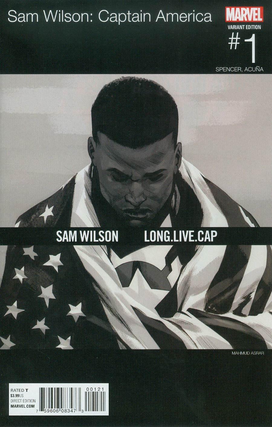 Captain America Sam Wilson #1 Cover B Variant Mahmud Asrar Marvel Hip-Hop Cover