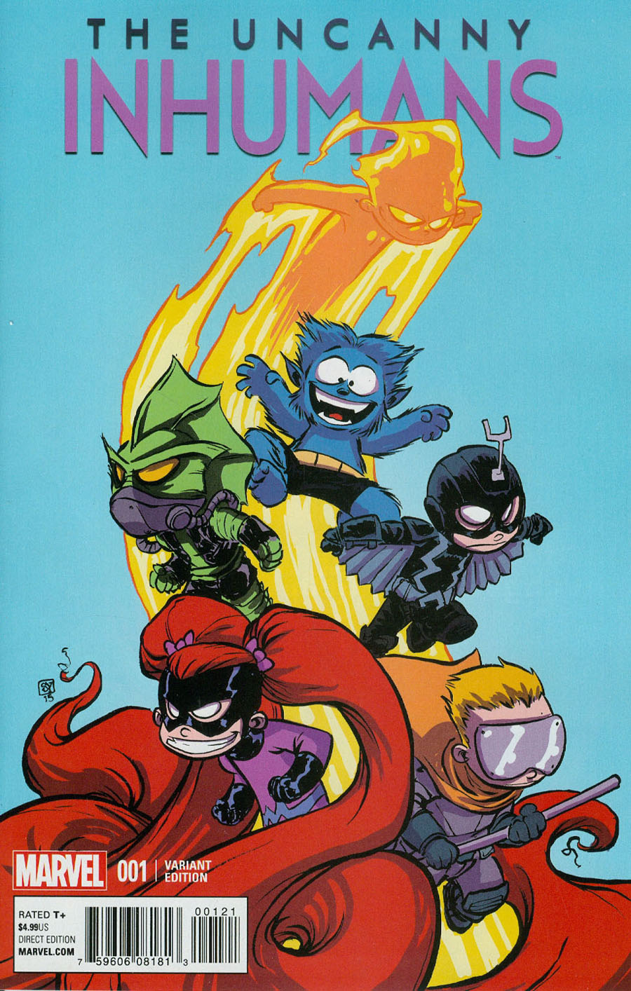 Uncanny Inhumans #1 Cover B Variant Skottie Young Baby Cover