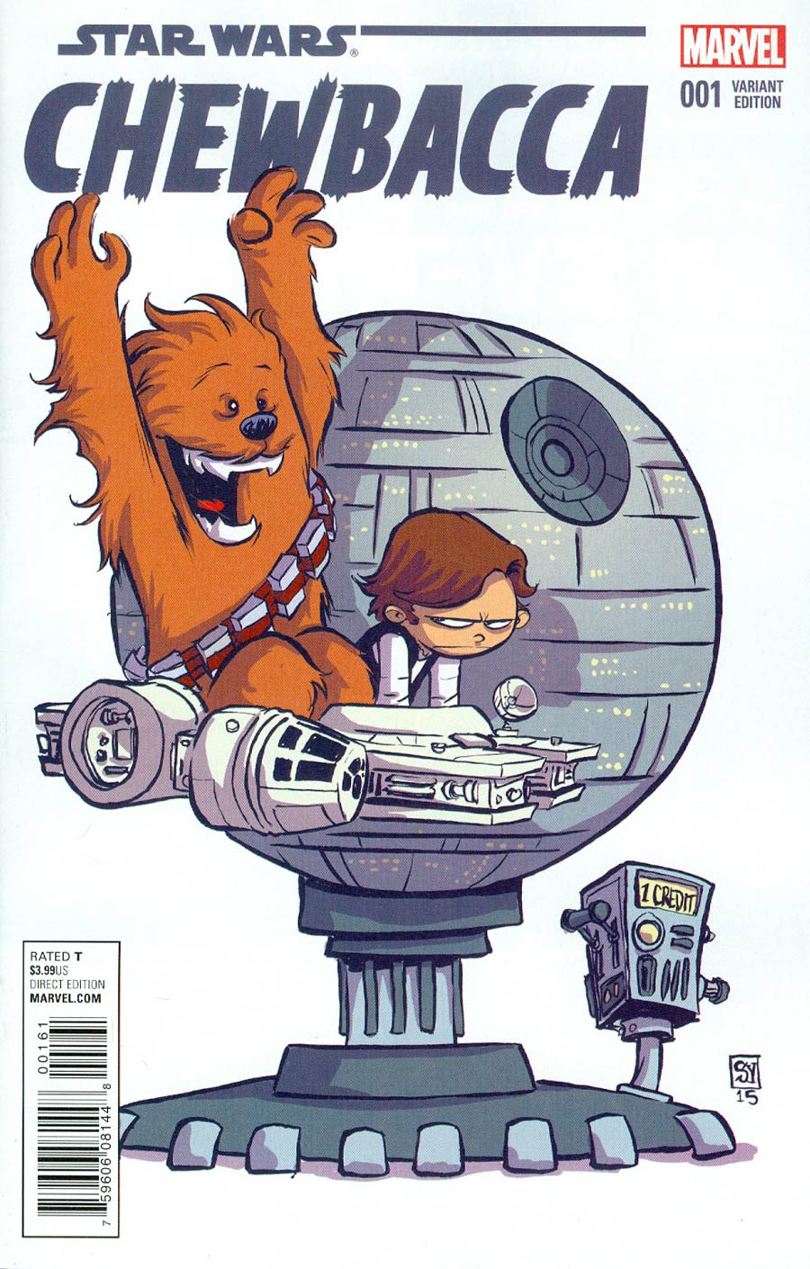 Chewbacca #1 Cover B Variant Skottie Young Baby Cover