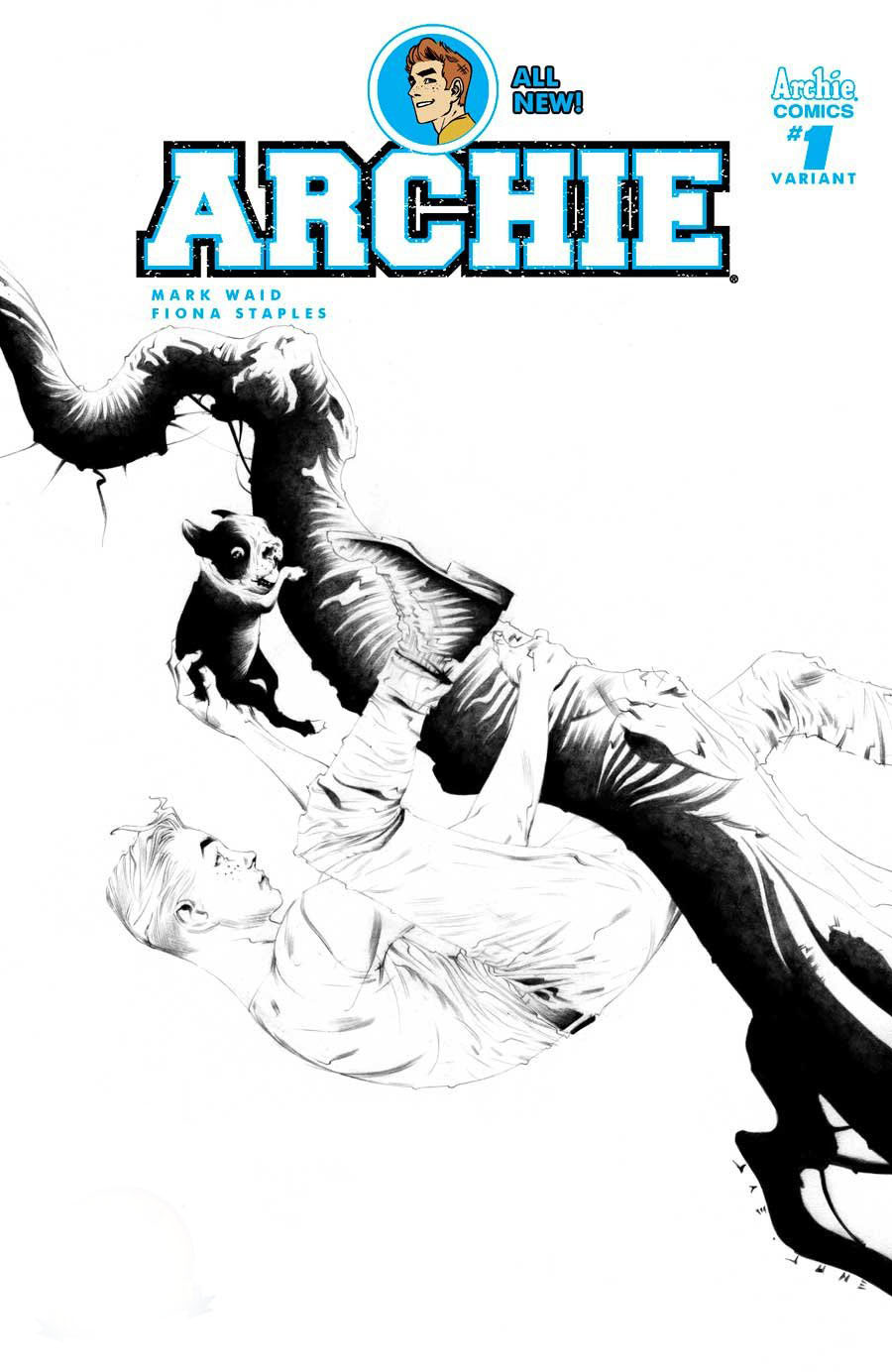 Archie Vol 2 #1 Cover Z-L DF Exclusive Jae Lee Black & White Variant Cover