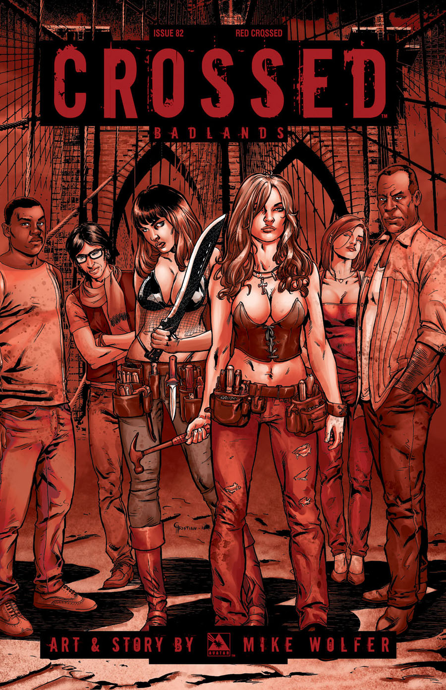 Crossed Badlands #82 Cover F Incentive Red Crossed Edition