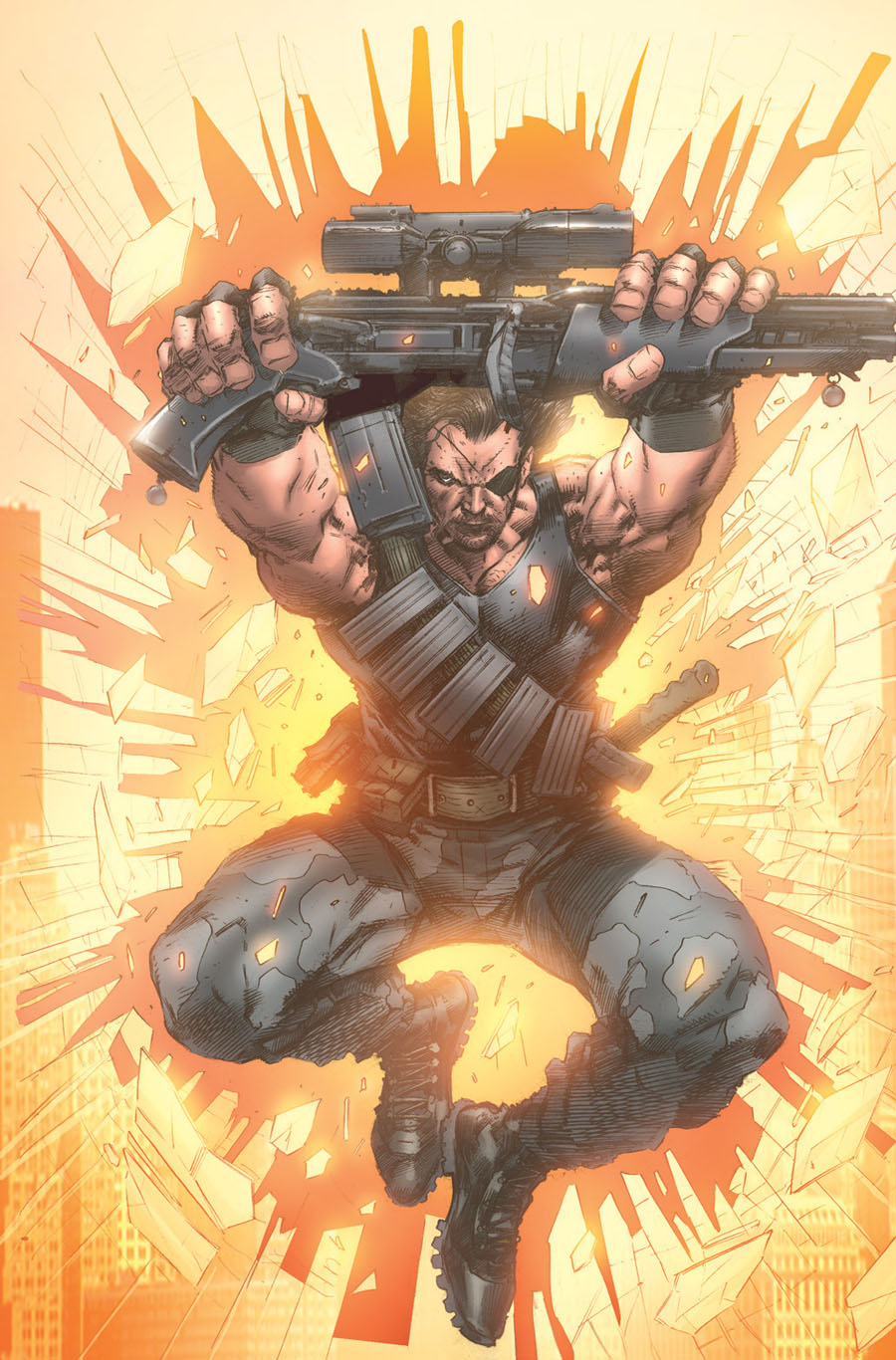 Escape From New York #8 Cover C Incentive Trevor Hairsine Virgin Variant Cover