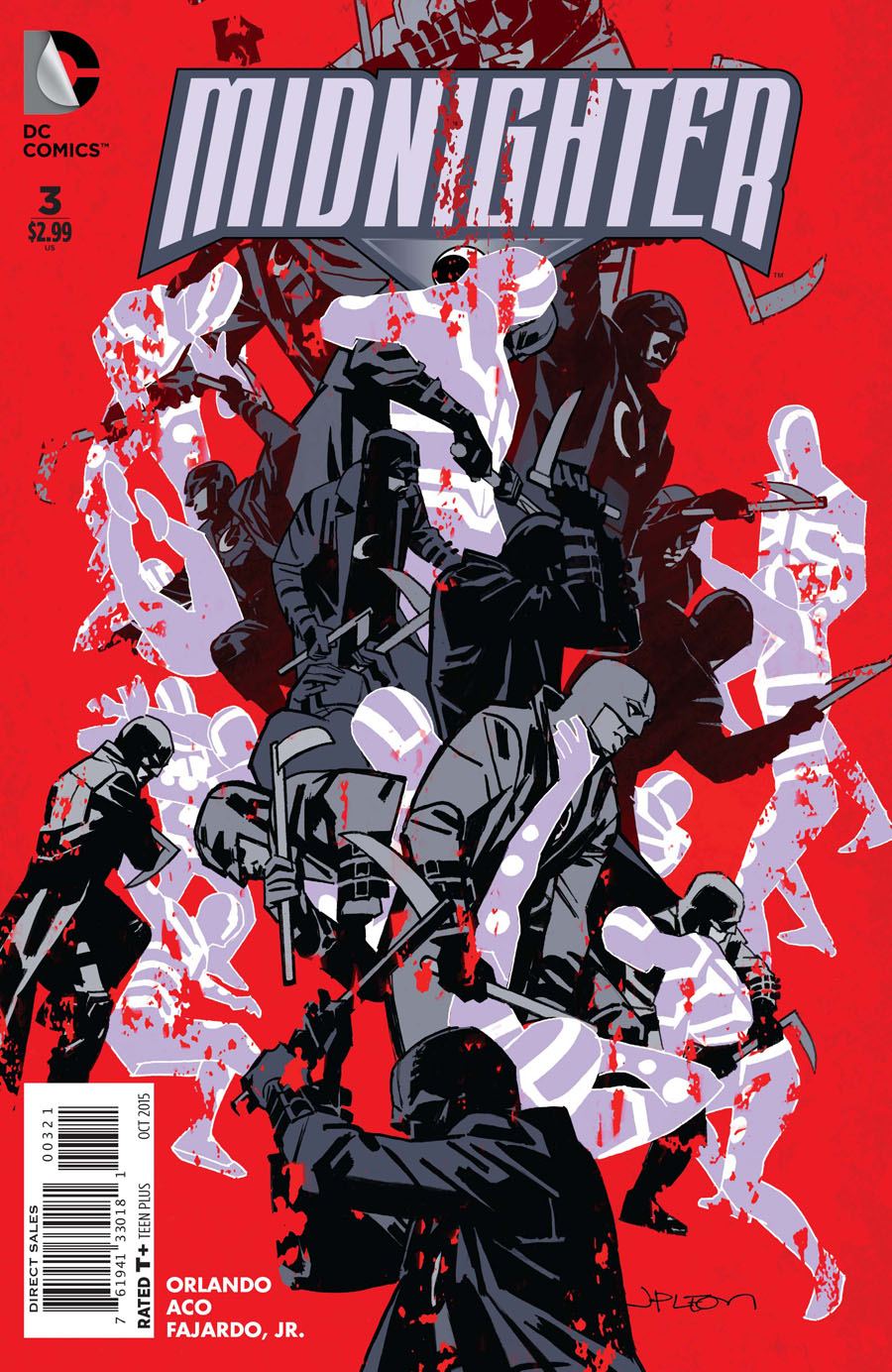Midnighter Vol 2 #3 Cover B Incentive John Paul Leon Variant Cover