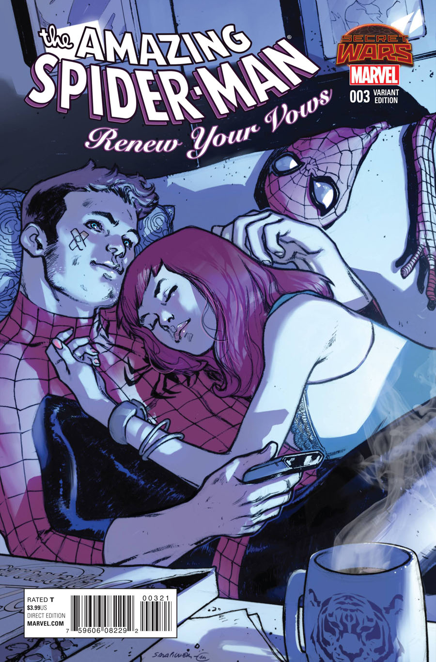 Amazing Spider-Man Renew Your Vows #3 Cover B Incentive Sara Pichelli Variant Cover (Secret Wars Warzones Tie-In)